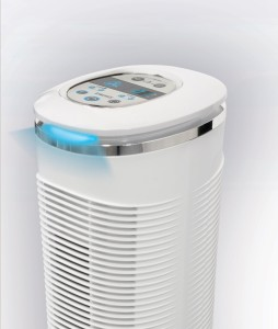 homedics oscillating tower air purifier review byemould uvc light HEPA filter mould dust dander