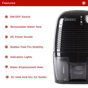 duronic dh05 mini portable compace dehumidifier review byemould manual features instructions peltier