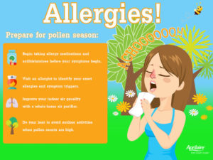 how airborne allergies affect your body infographic preparation