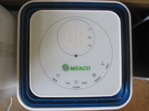 Meaco 12L ah dehmuidifier control panel large led display elderly visual impairment